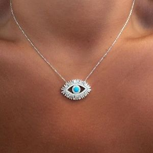 Jewelry - 🆕 'Reina' evil eye necklace Silver